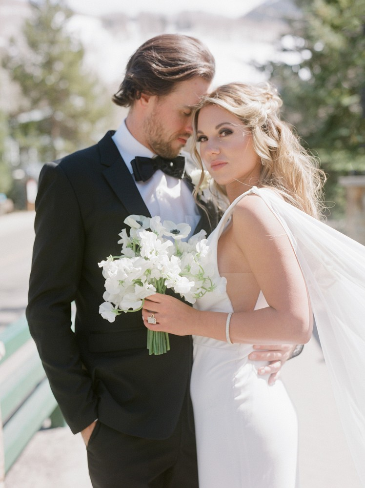 Modern Elegant Ski Lodge Wedding Reception in Vail