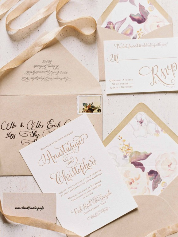 Wedding stationery | Elegant Destination Real Wedding in Rome Italy by Erich McVey on Wedding Sparrow