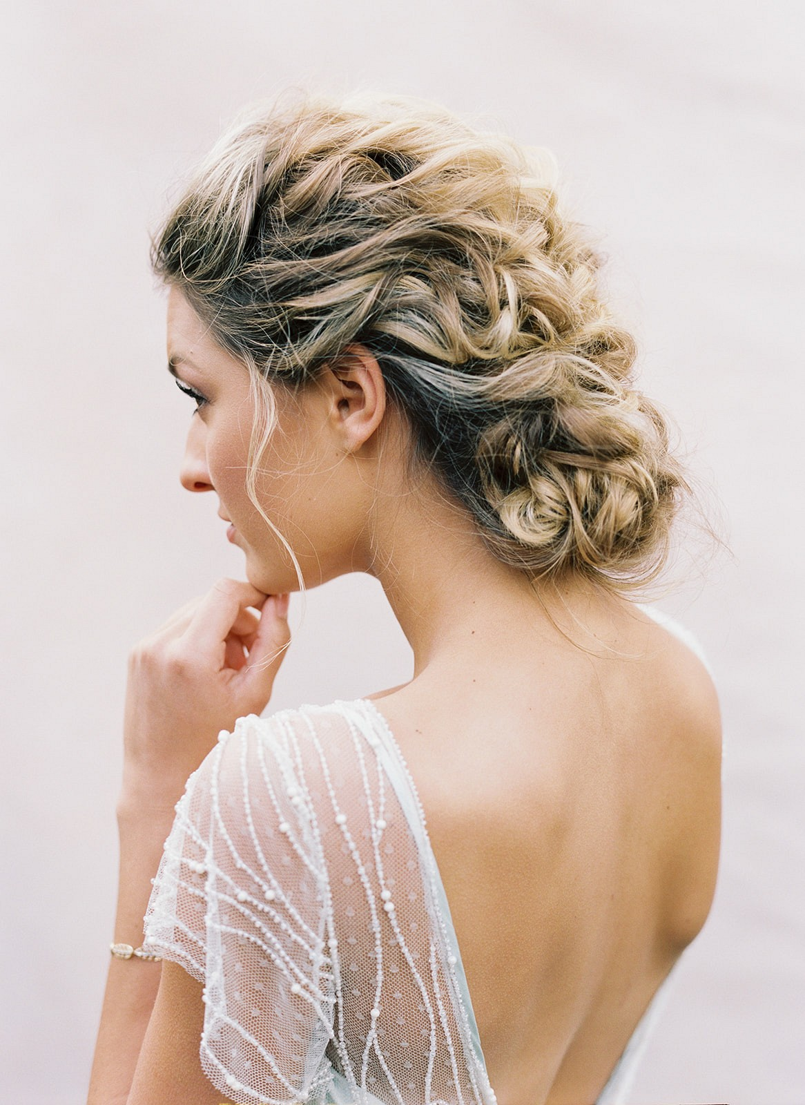How to create the perfect messy up-do for your wedding