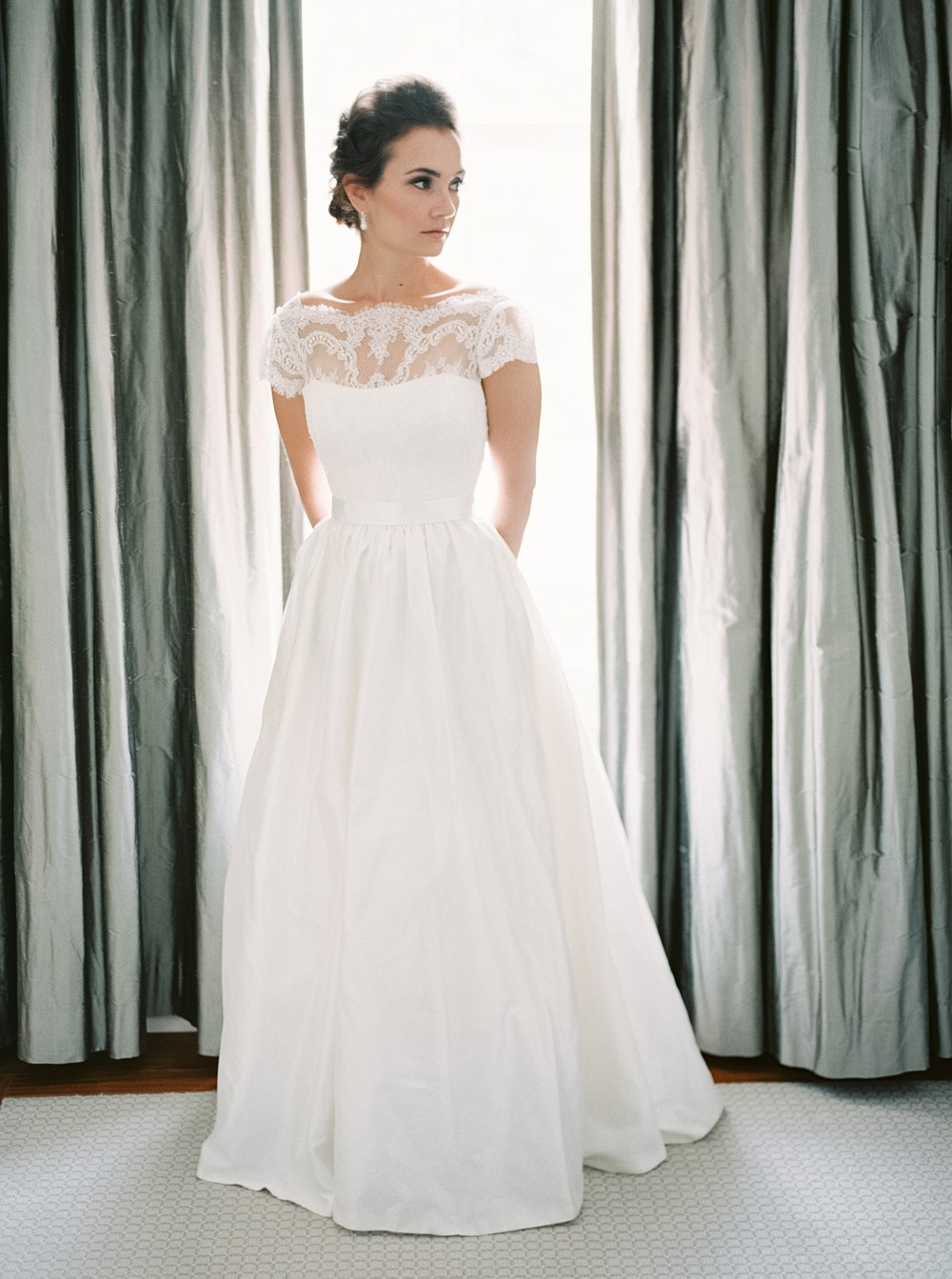 Tara Keely Wedding Gown   Sophisticated Real Wedding in Ontario by When He Found Her on Wedding Sparrow
