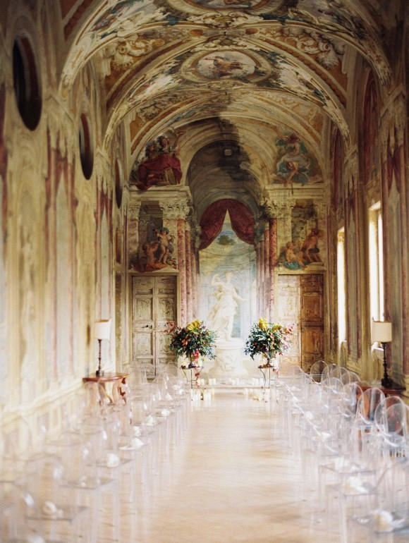 Ceremony decor | Elegant Destination Real Wedding in Rome Italy by Erich McVey on Wedding Sparrow