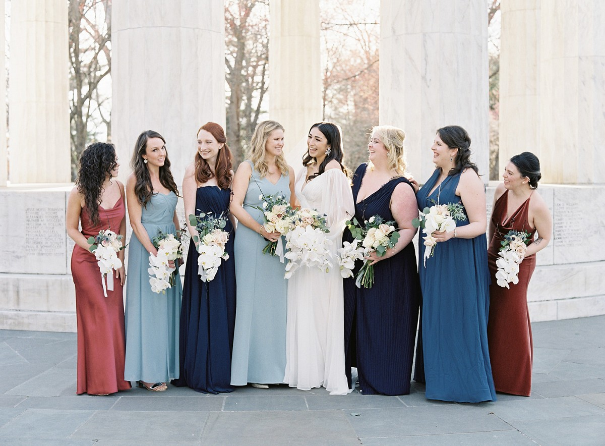 Sophisticated D.C. Wedding with Perfect Blue & White Wedding Shoes!