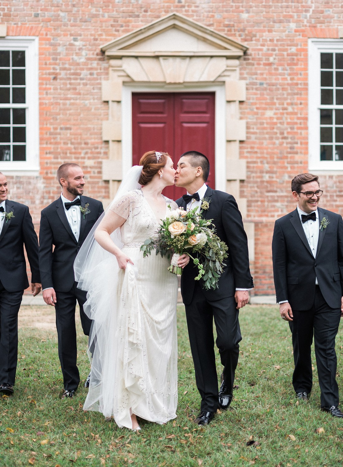 Gold Toile Virginia Real Wedding