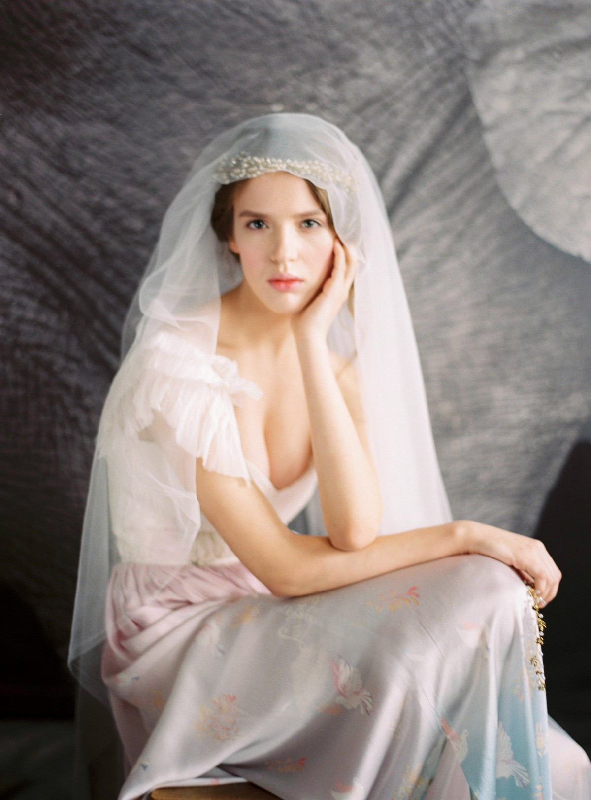 Moody Colored Wedding Gown Inspiration