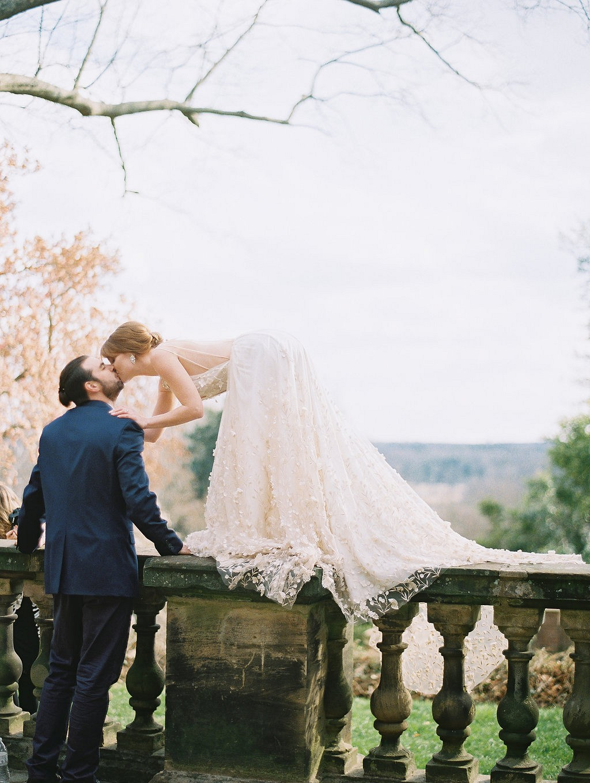 Deep Blue Elegant Manor Wedding Style