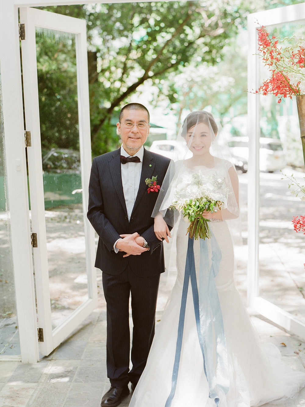 Michelle and Jerry's Pale Blue Intimate Glasshouse Wedding