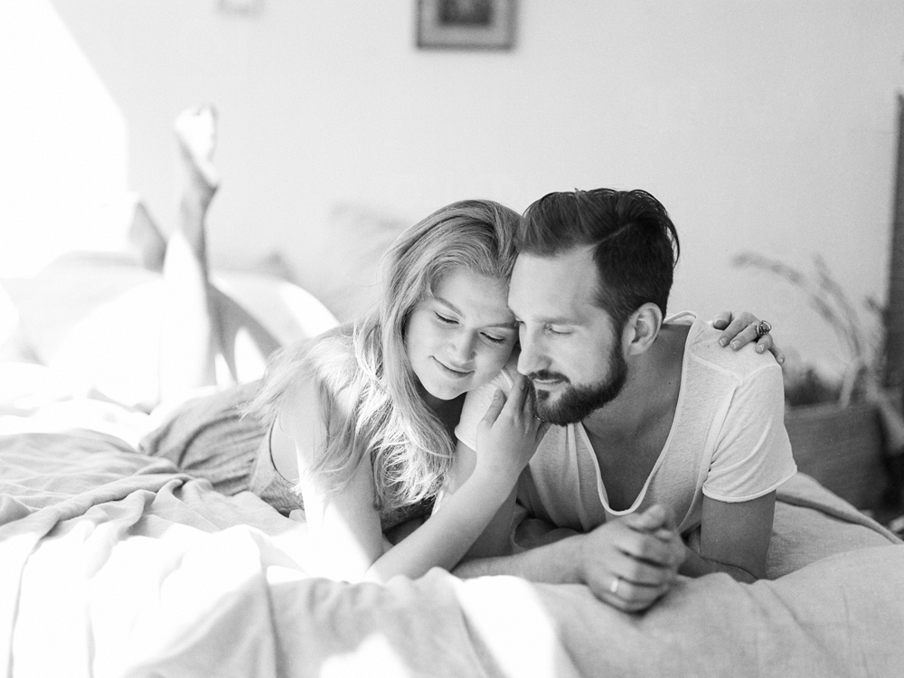 Casual At Home Engagement Session