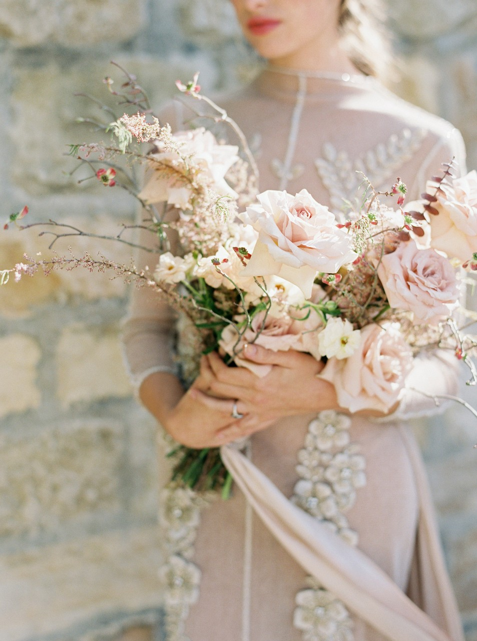 Wedding bouquets with earthy tones