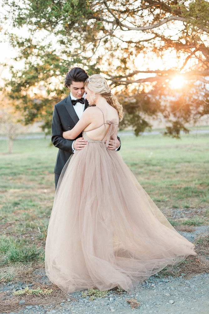 Spring Wedding Style with Lush Florals and A Blush Gown