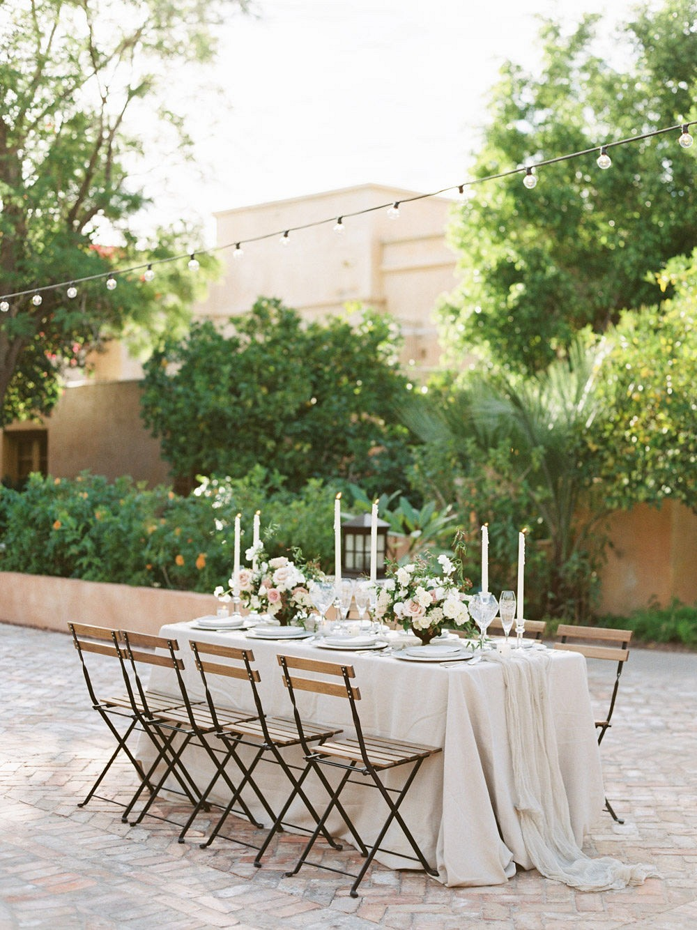 Desert inspired wedding ideas with blush roses and European influences