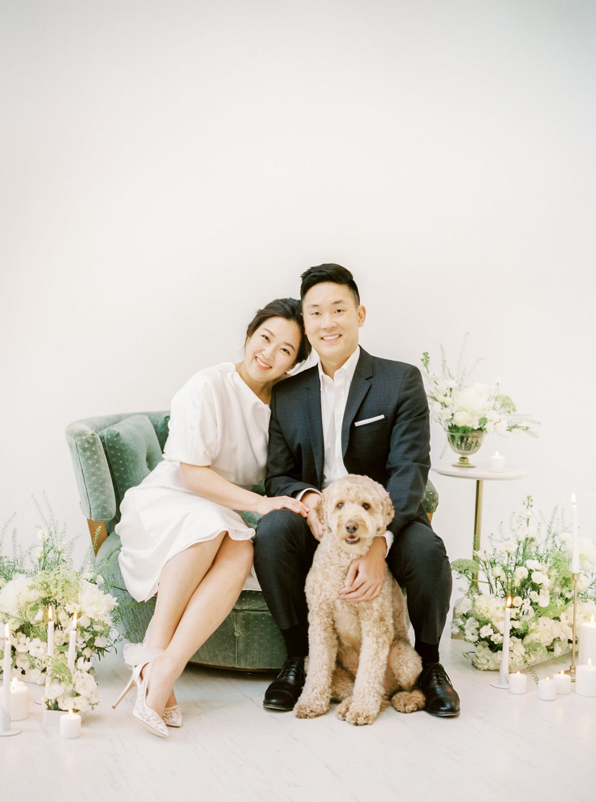 A Chic Studio Engagement Session with a Romantic Korean Notes