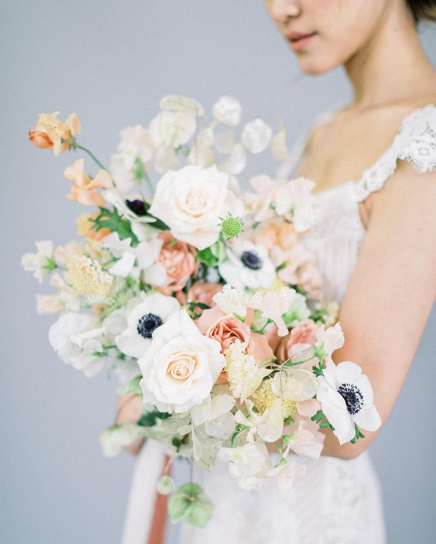 anenome bridal bouquet