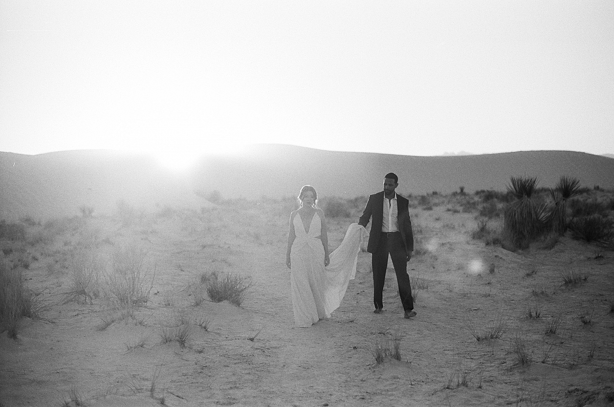 Contemporary Engagement Session in White Sands, New Mexico