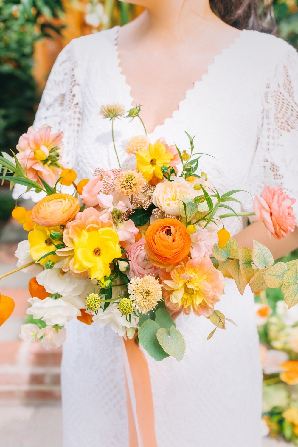 Bright and Bold wedding bouquets