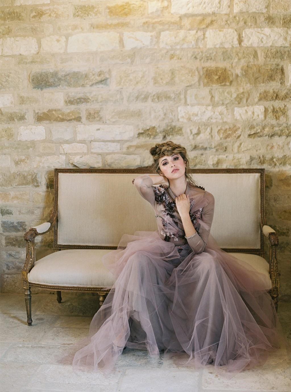 Earthy Tones and a Mauve Wedding Dress