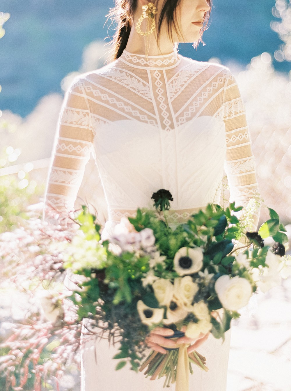 Bold and Modern Bridal Style in Boho Wedding Gowns