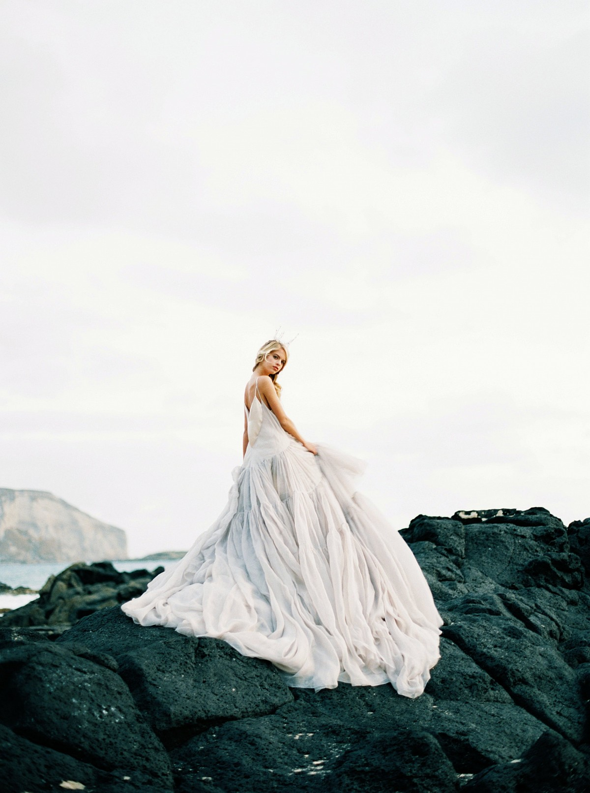 Majestic Sunrise Bridal Session on the Hawaiian Coast