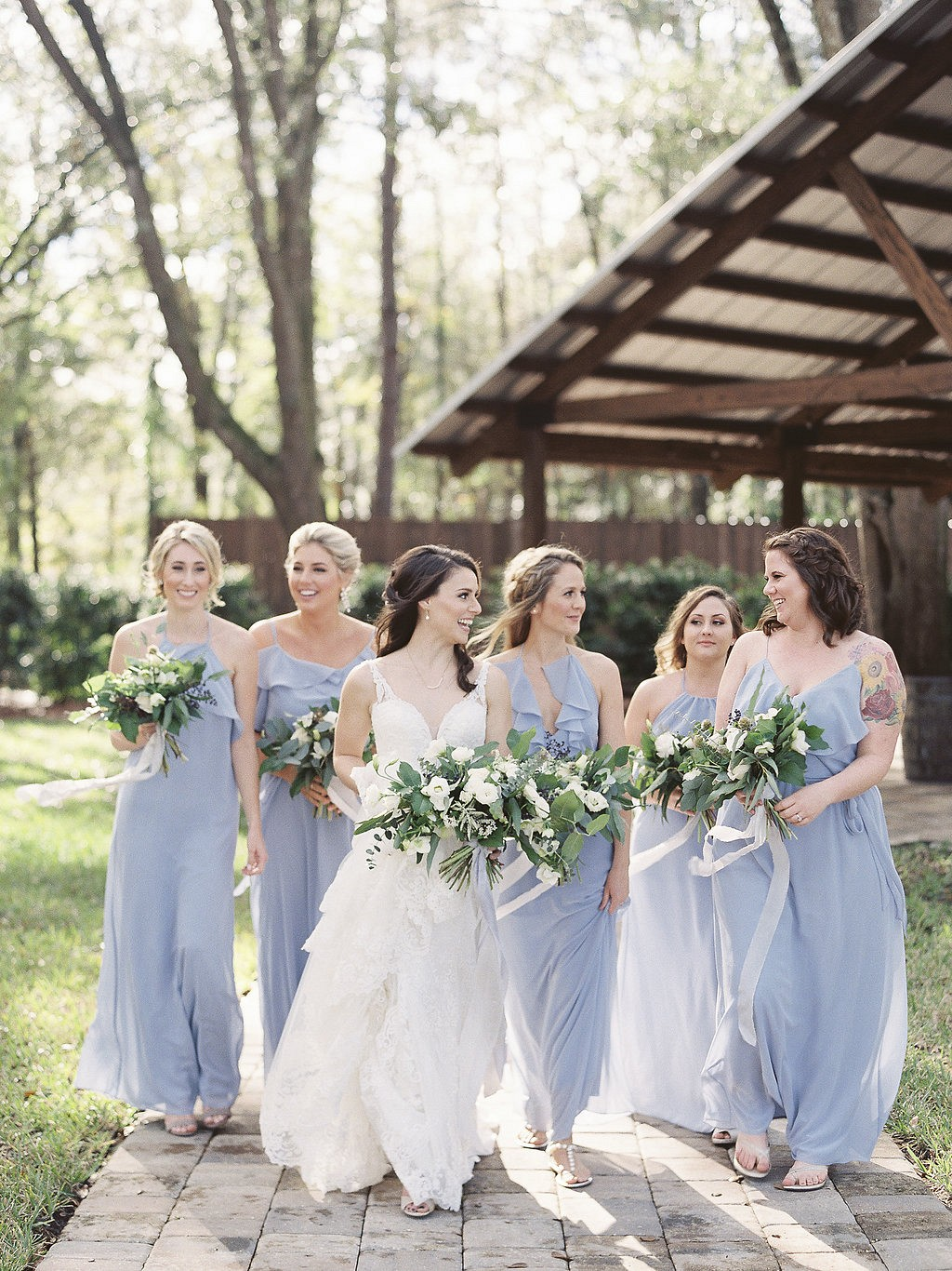 Amanda And Stephen S Dusty Blue Wedding With Lots Of Greenery