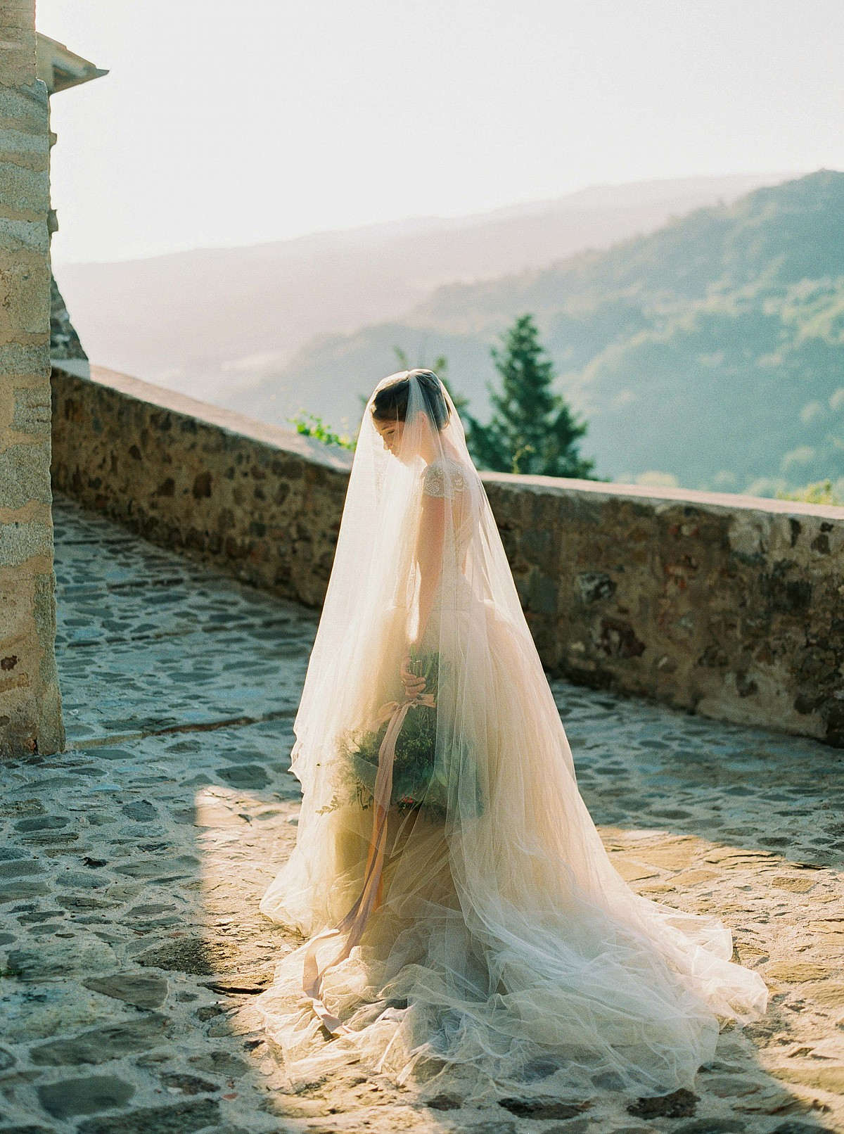 A Tuscan Bridal Session during Sunrise