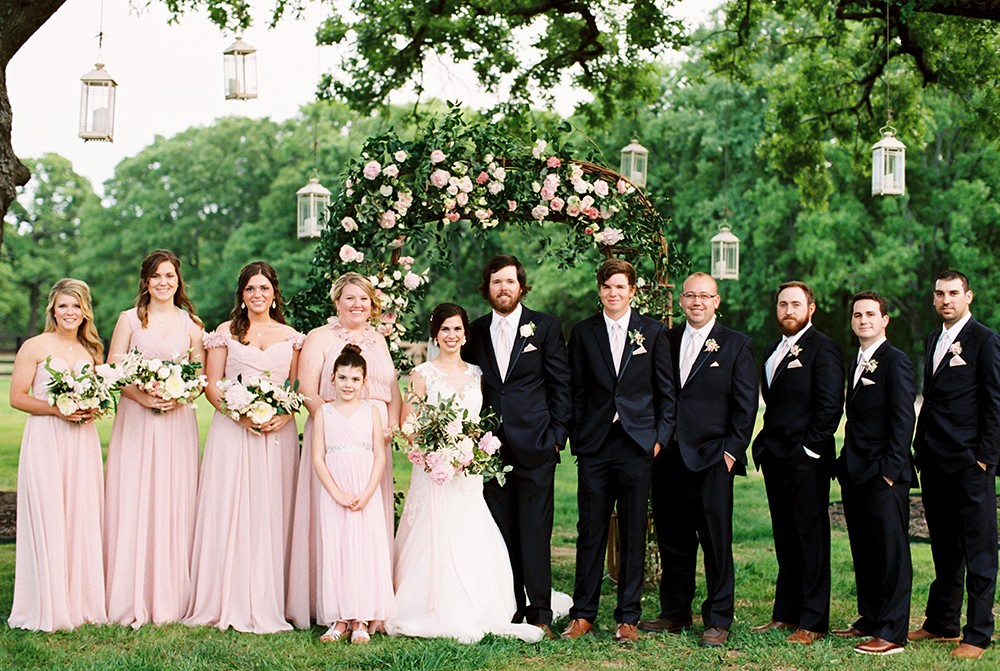 Jennifer and Scott's Blush and Navy Wedding