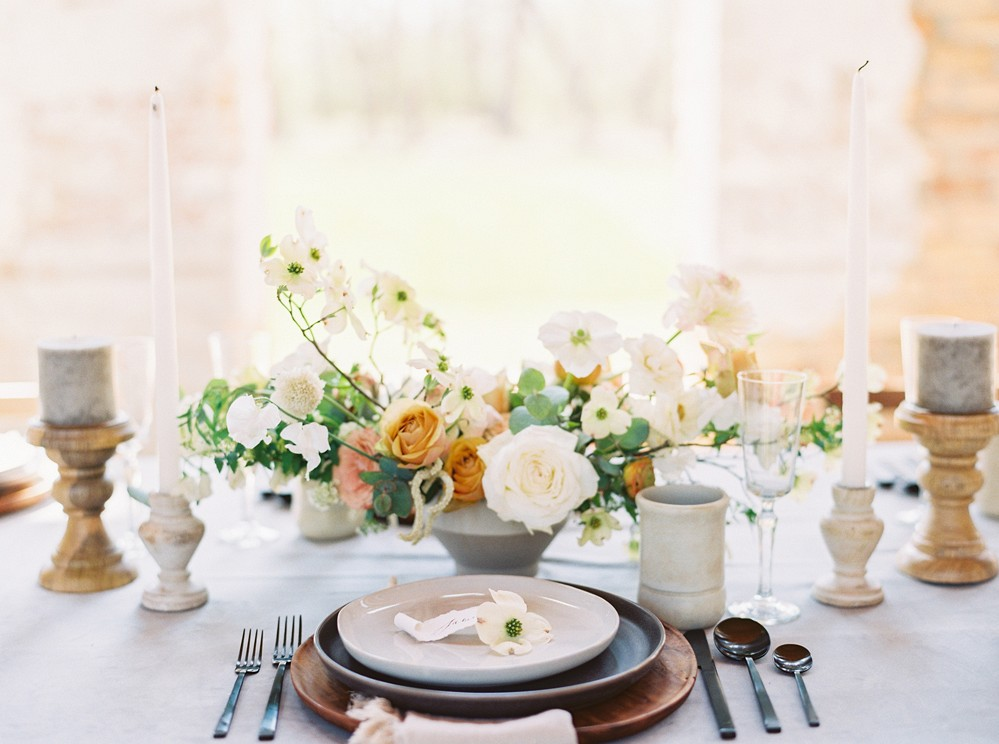 Organic Wedding Inspiration with Dogwood Details