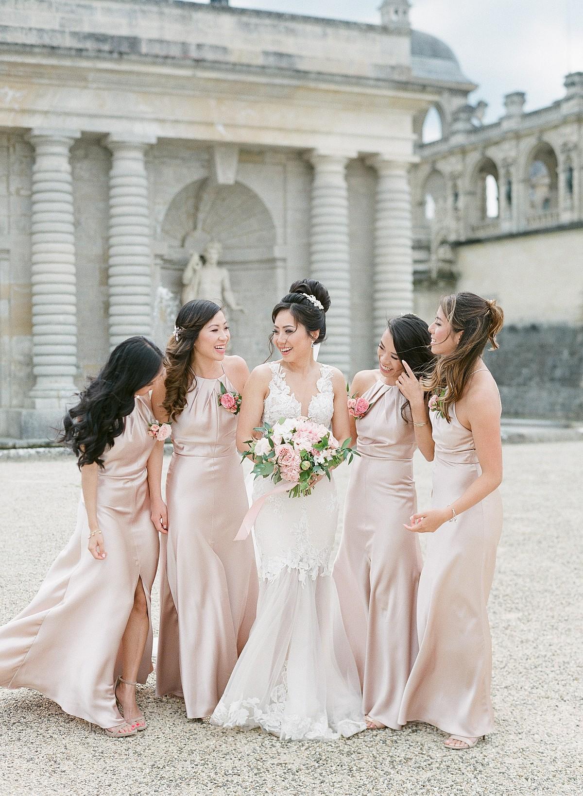 satin bridesmaids dresses