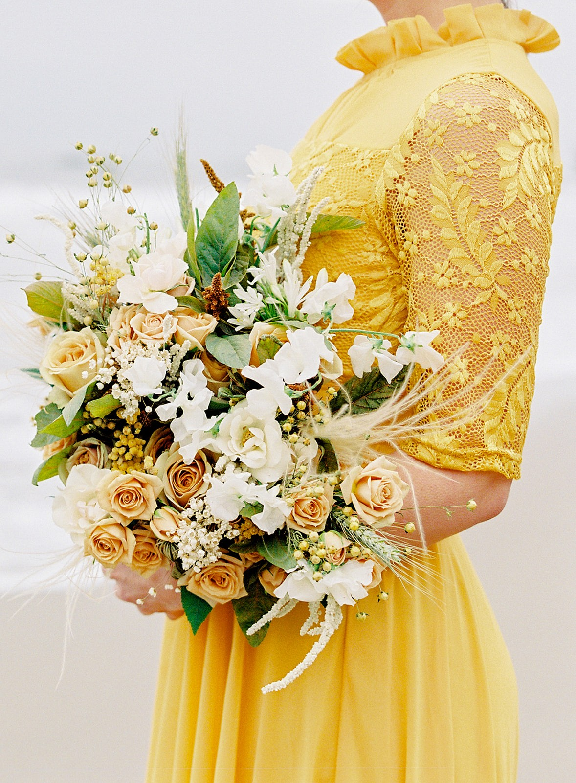 mustard wedding bouquet