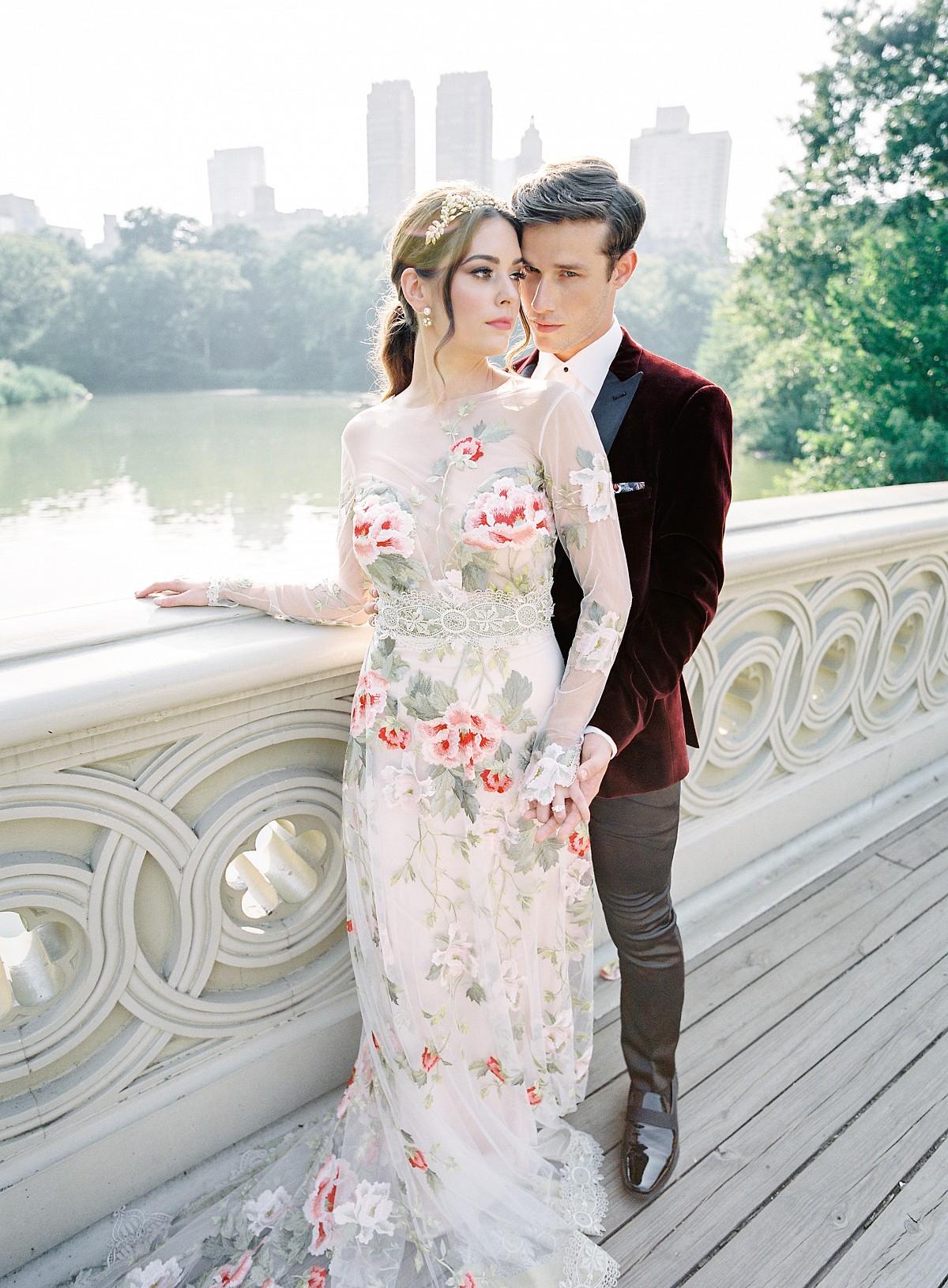 Claire Pettibone floral wedding dress