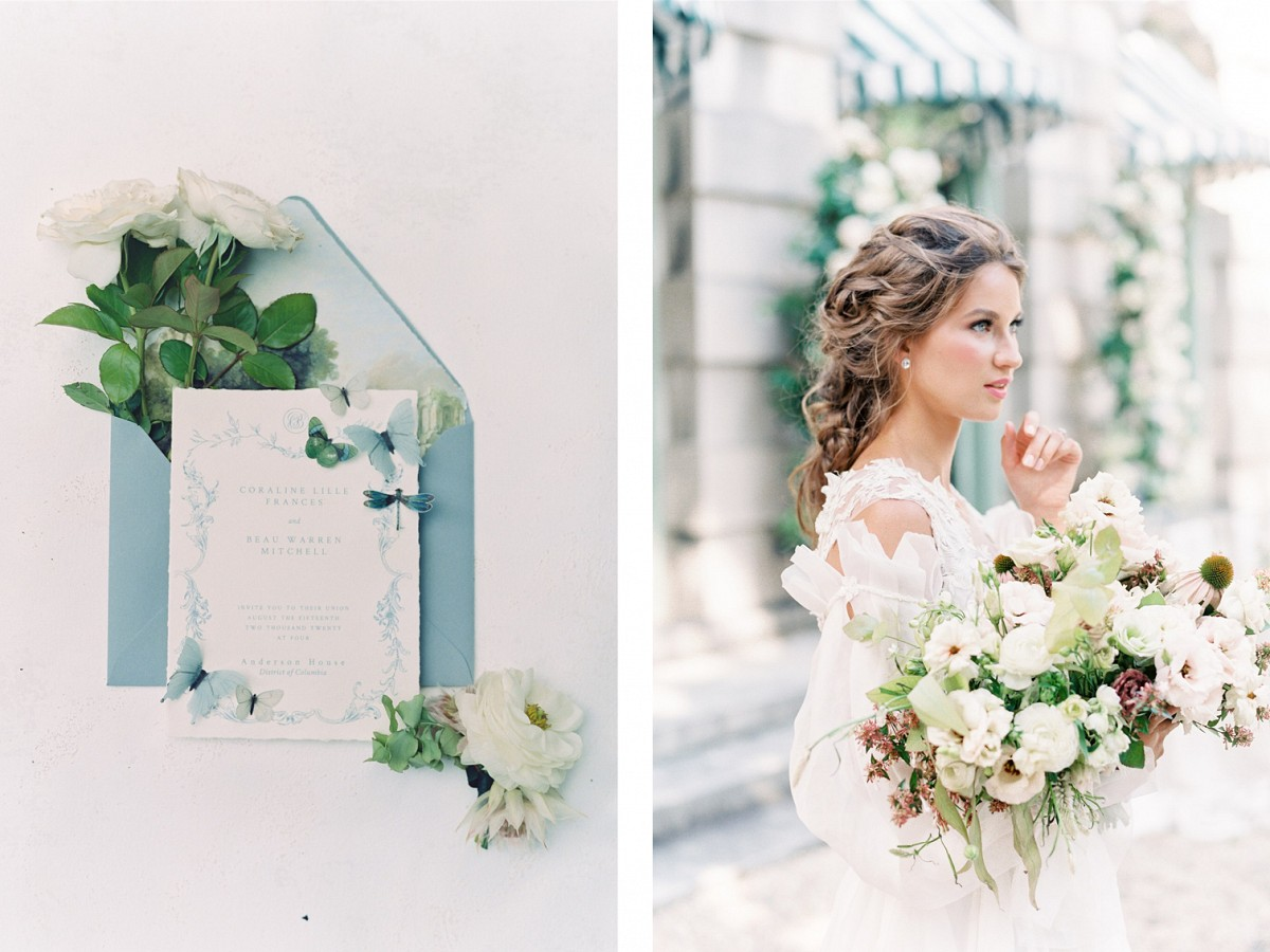 Formal Luxe Wedding Inspiration at Anderson House
