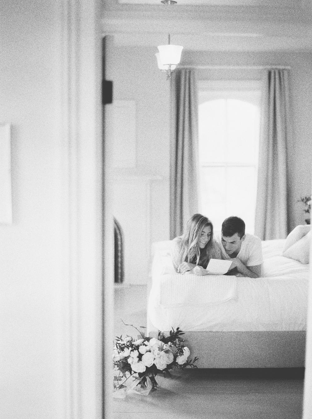 Quiet Morning of Wedding Day