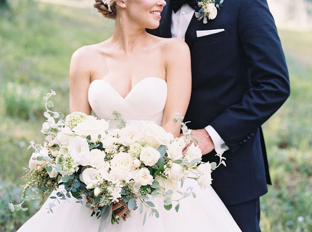 Mountain Wedding with Pale Blue Palette