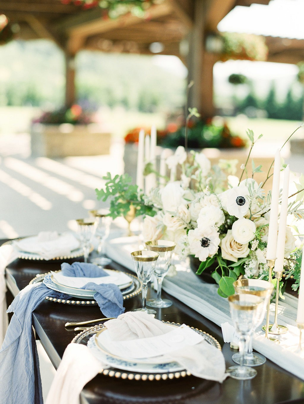 Sophisticated blue, grey, and gold wedding ideas