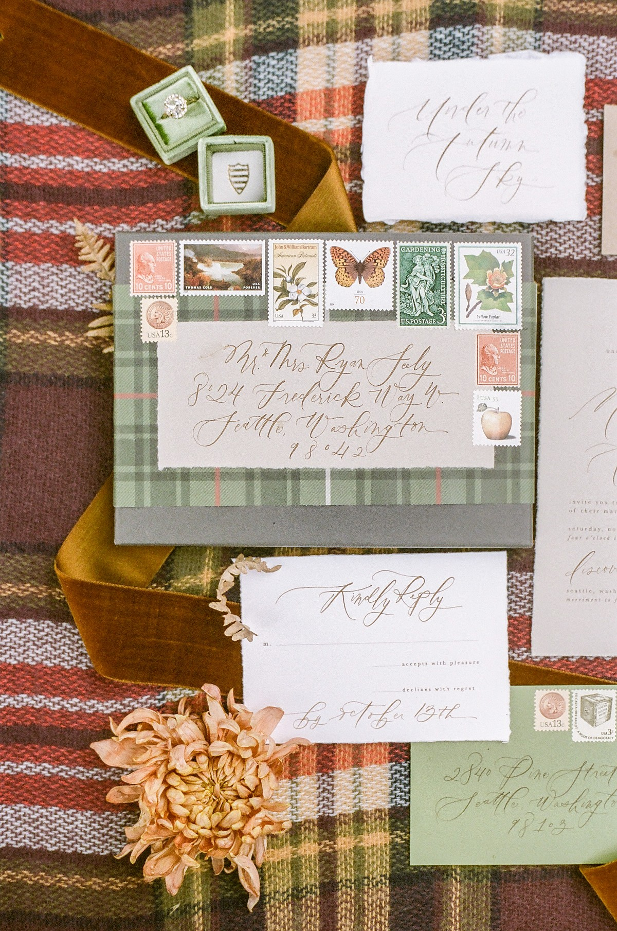 The Ultimate Fall Wedding Inspiration with Plaid and Tweed