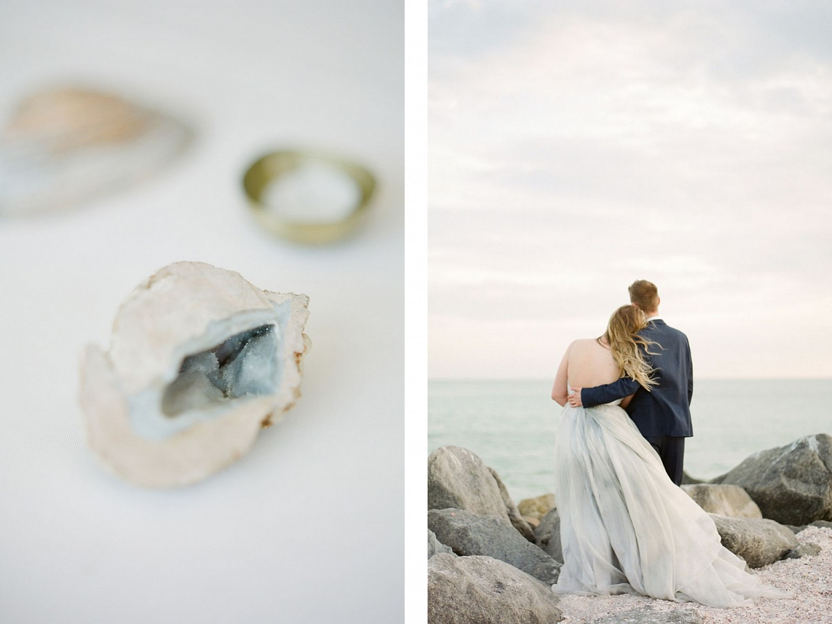 Small Coastal Wedding in Florida with Pale Blue Accents
