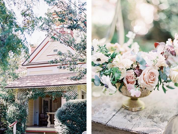 Blush pink romantic garden wedding