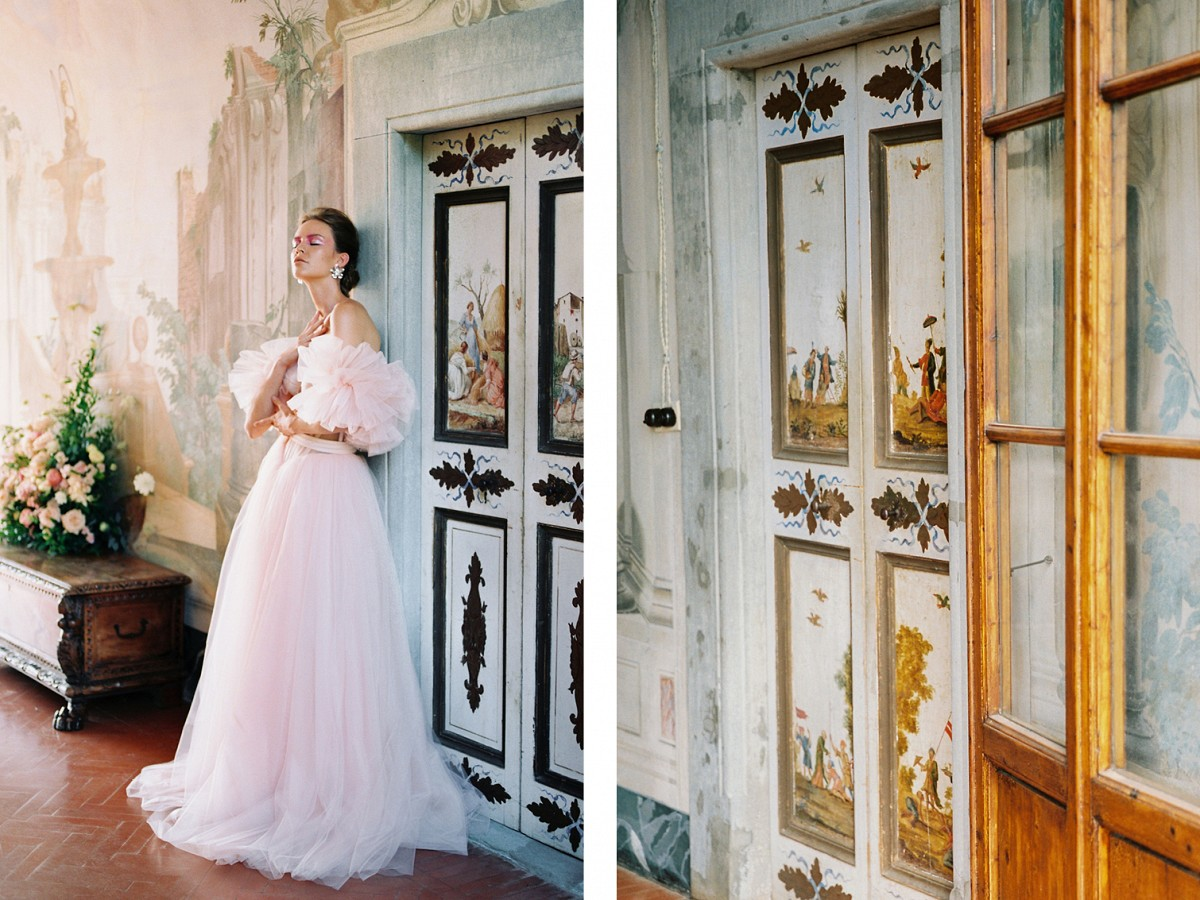 The Blush Wedding Dress You Need to See