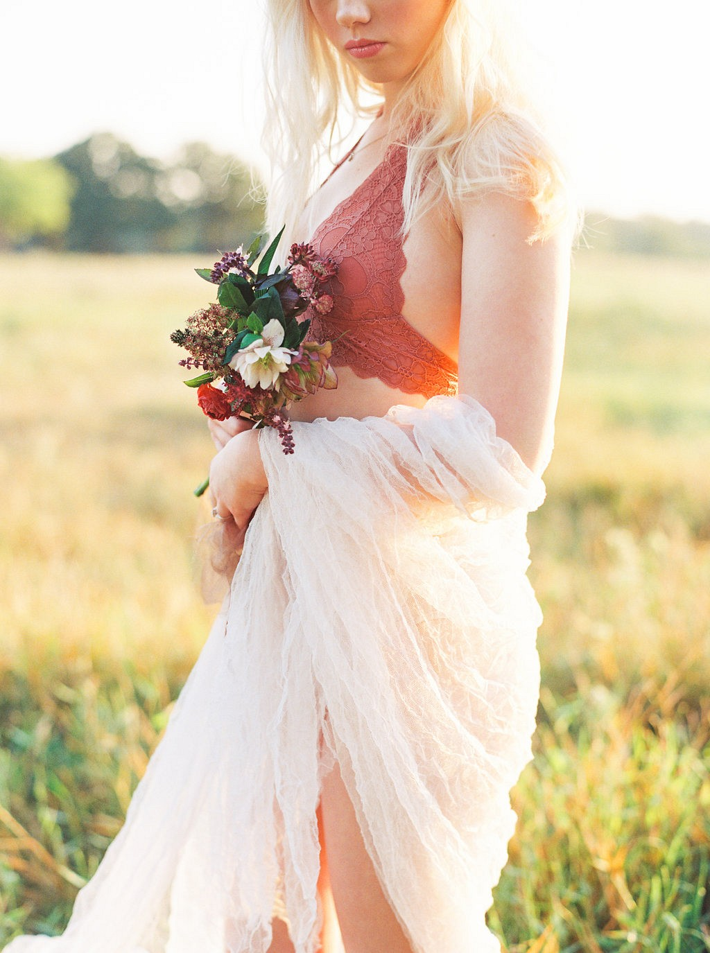 Sun Drenched Bridal Boudoir Session by Taylor Lord | Wedding Sparrow