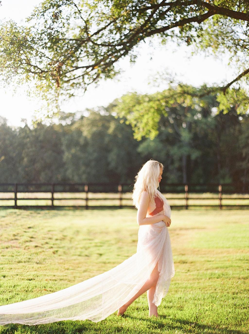 Sun Drenched Bridal Boudoir Session