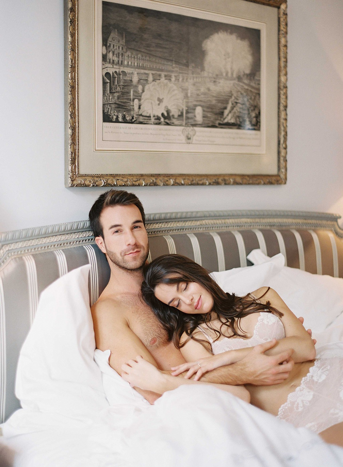 His and Hers Parisian Boudoir Session