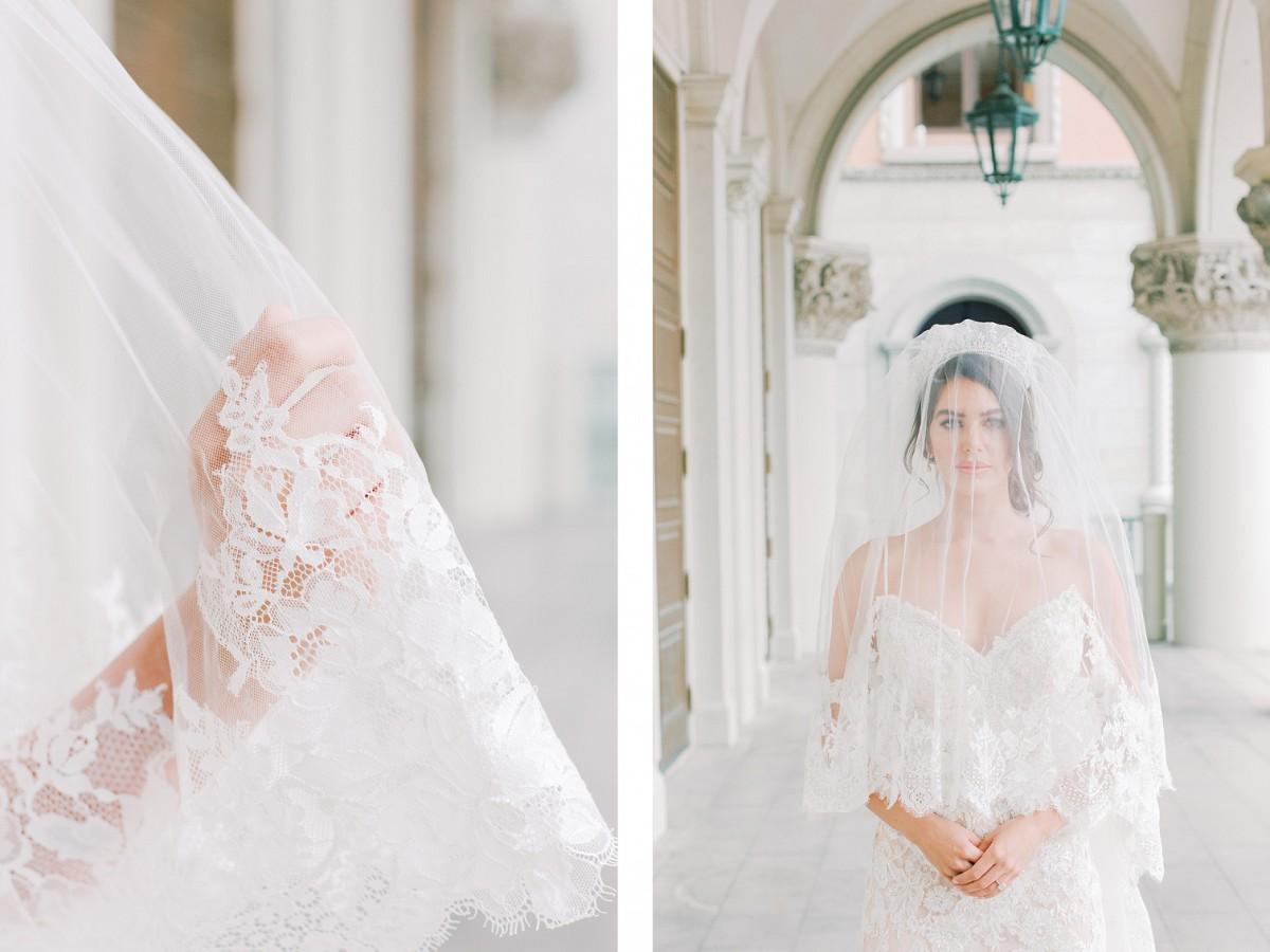 wedding veil with pearls - eden luxe