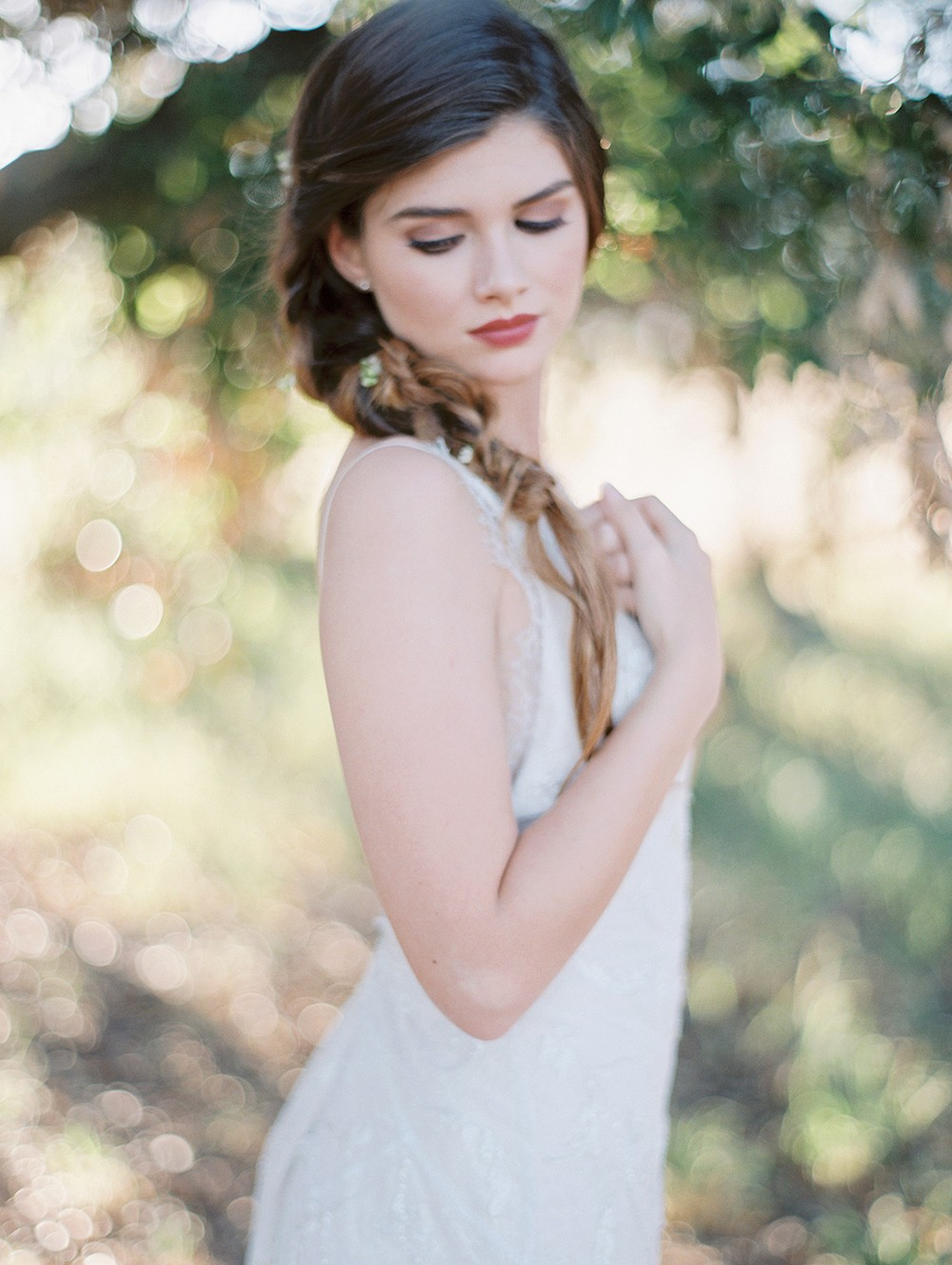 Braided Hair for a Spring Bride