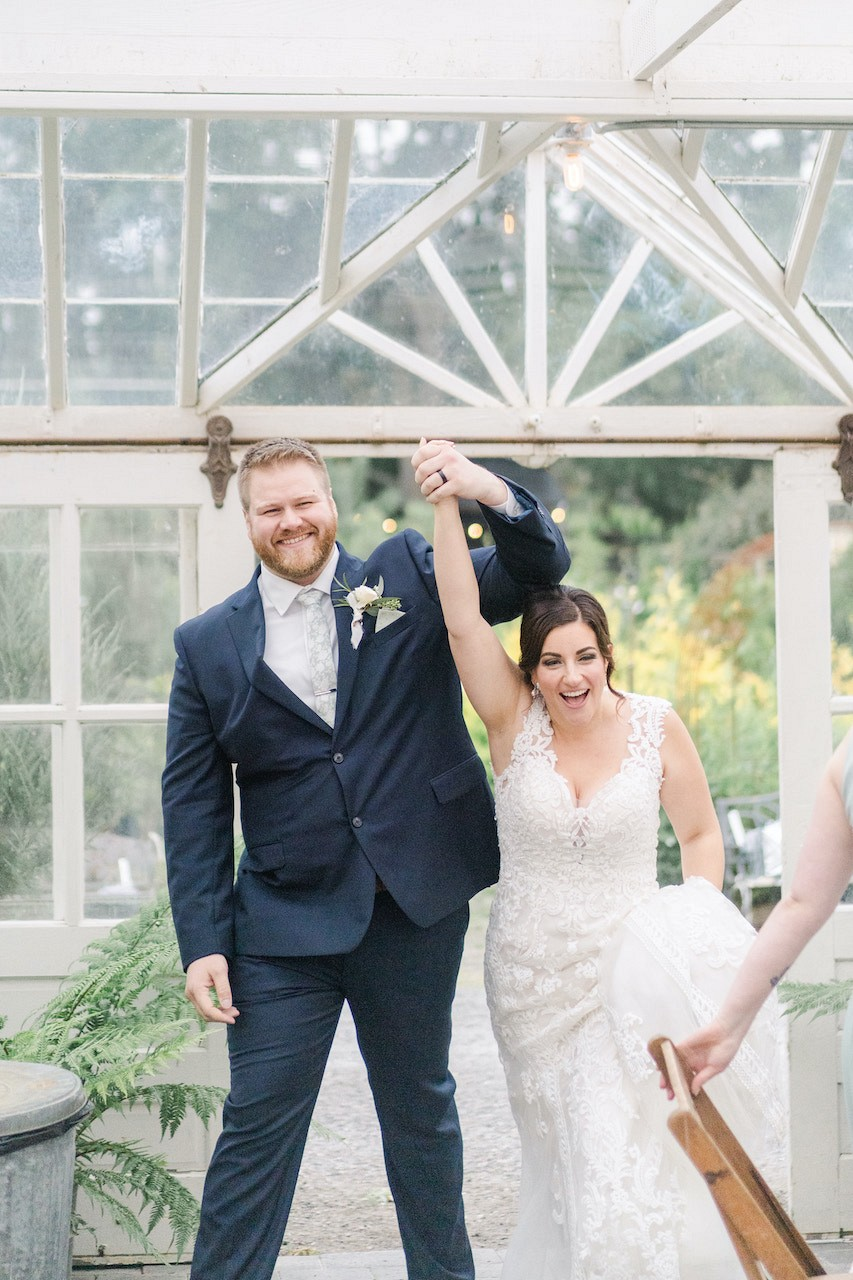 Covid Postponed Wedding Changes Venue to a Sweet Glasshouse Venue