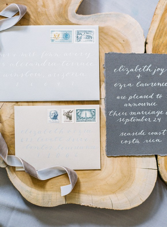 Wedding stationery by All Things Lovely Paper Co. on Wedding Sparrow