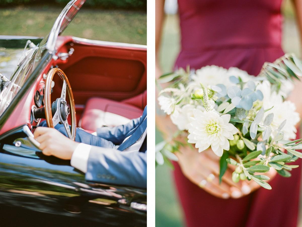 Riverside Wedding with Burgundy Details