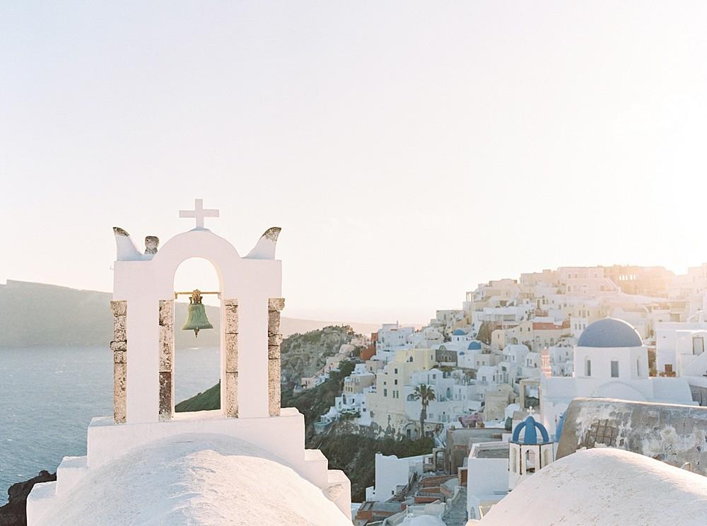 Santorini Elopement in Muted Tones