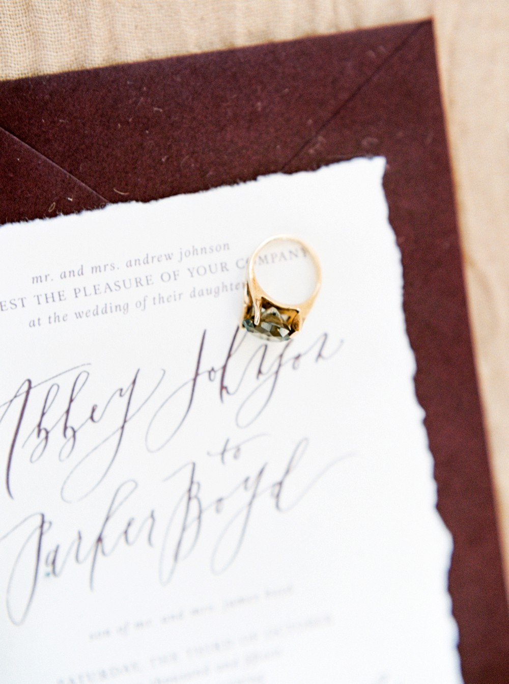 Gold and Burgundy Wedding Inspiration