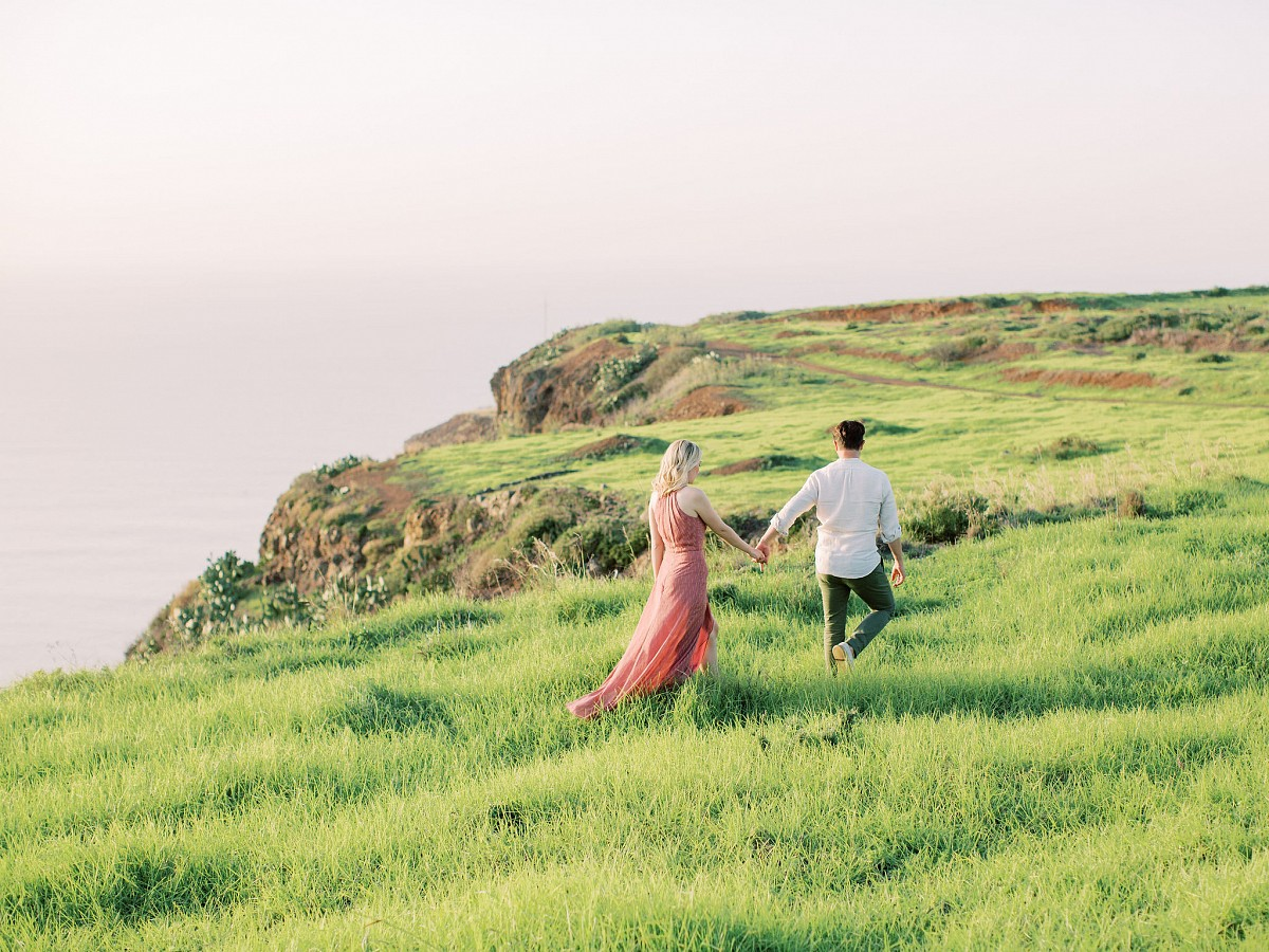 Clifftop Picnic Engagement Session in Madeira