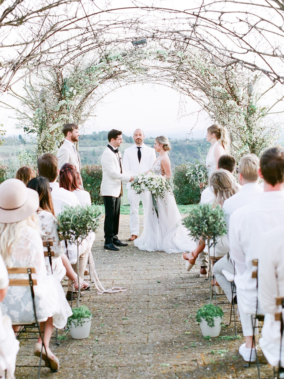 Florence Wedding with Olive Green and White Accents