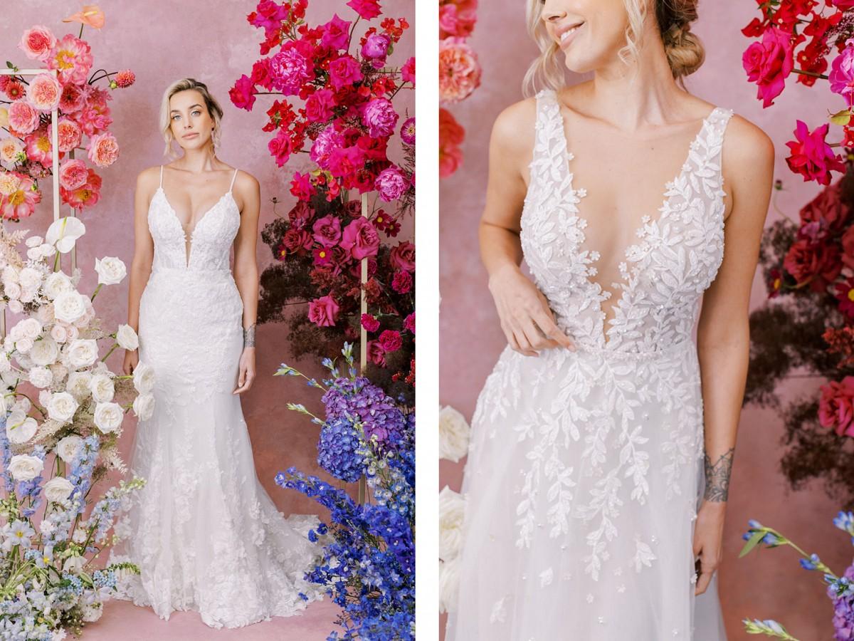 Sleeveless wedding gowns