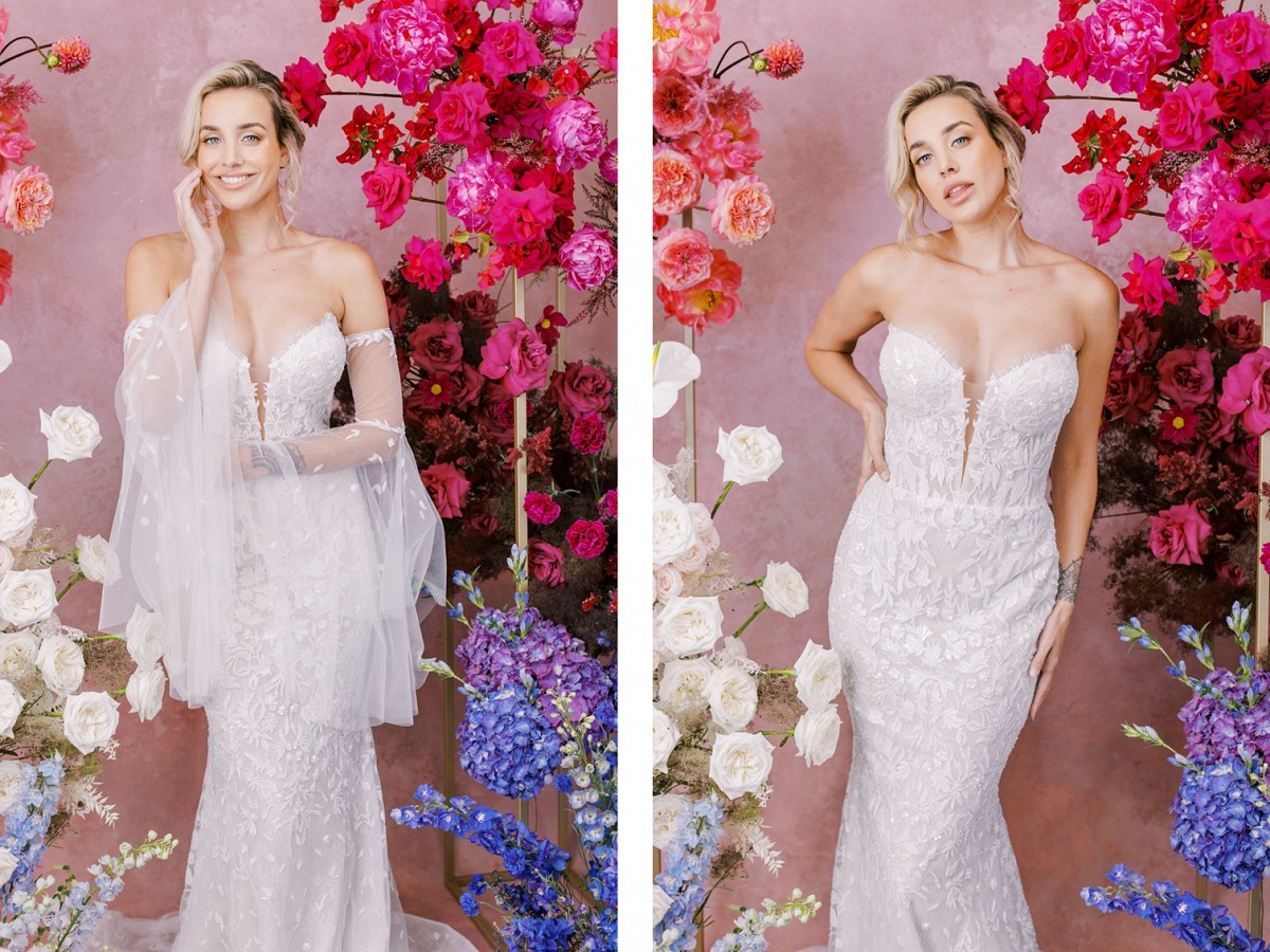 Wedding gowns with detached sleeves